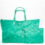 Coach 77316 Signature Nylon Large Packable Weekender Tote Bag / Silver :Aqua thumbnail 1