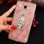 (025-600)เคสมือถือซัมซุง Case Samsung A9 Pro เคสนิ่มขอบแววพื้นหลังลายดอกไม้คริสตัลแหวนโลหะตั้งโทรศัพท์น่ารักๆ thumbnail 16
