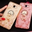 (025-600)เคสมือถือซัมซุง Case Samsung A9 Pro เคสนิ่มขอบแววพื้นหลังลายดอกไม้คริสตัลแหวนโลหะตั้งโทรศัพท์น่ารักๆ thumbnail 1