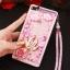 (549-001)เคสมือถือ Case Huawei P8 Lite เคสพลาสติกใส Glitter ทรายดูดหัวใจ thumbnail 8