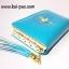 กระเป๋าสตางค์ใบกลาง ลายผู้หญิง สีฟ้าน้ำทะเล thumbnail 2