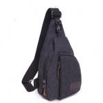กระเป๋าสะพายใบเท่ห์ ขนาดกำลังดี สำหรับสุภาพบุรุษทั้งหลาย มีให้เลือก 5 สี 2 ขนาด - ดำ เล็ก