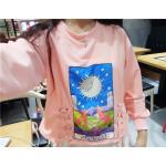 เสื้อกันหนาวสี colorful สวย สดใส สมวัยสาวๆ - ชมพู