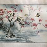 ภาพวาดผู้กันจีน ต้นบ๋วย zen04