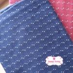 ผ้าทอญี่ปุ่น 1/4ม.(50x55ซม.) สีน้ำเงินเข้ม ทอลายเครืองหมายบวกเล็กๆ