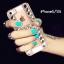 ้เคสไอโฟน 5/5s/SE เคสไอโฟนกรอบใสประดับเพชรและคริสตัลสีเงินรูปตัว H thumbnail 1