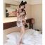 เดรสสั้นสีชมพูหวานๆ ลวดลายน่ารักๆ ขนาดกำลังดี แต่งคอเสื้อนิดๆ น่าใส่สุดๆ thumbnail 10