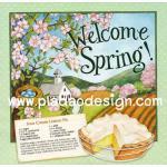 0404 กระดาษอาร์ทพิมพ์ลาย สำหรับทำงาน เดคูพาจ Decoupage : Cooking Series - Sour Cream Lemon Pie A5