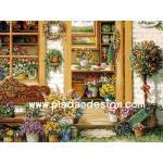 กระดาษอาร์ตพิมพ์ลาย สำหรับทำงาน เดคูพาจ Decoupage แนวภาพ ห้องจัดดอกไม้ อยู่ใจกลางสวนดอกไม้ฤดูหนาวเป็นภาพแบบซอฟต์ๆ A5