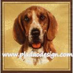 กระดาษสาพิมพ์ลาย สำหรับทำงาน เดคูพาจ Decoupage แนวภาพ สุนัข น้องหมา สีโทนน้ำตาลขาว บนพื้นครีม A5