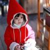 Huanshu kids เสื้อกันหนาวแฟชั่นเด็กสีแดง มีฮูดเทห์ๆ เก๋มาก น่ารักสไตล์เกาหลี ( ผ้าหนา )