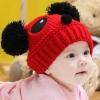 หมวกรูปหมีแพนด้า สีแดงน่ารักสไตล์เกาหลี