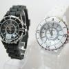 นาฬิกาข้อมือแฟชั่น GENEVA ( sizeเล็ก) Xinslon Ceneva นาฬิกา ตัวเลขอารบิค ขอบเงิน
