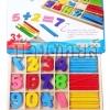 กล่องไม้สอนเลข ชุดแท่งไม้สีสอนเลข