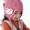 หมวกไหมพรม+ ผ้าพันคอสีชมพู เก๋ๆ น่ารักสไตล์เกาหลี