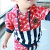 ชุดแฟชั่นเด็ก 2 ชิ้น เสื้อ + กางเกง ตกแต่งด้วยลายธงชาติสหรัฐ น่ารัก สไตล์เกาหลี ผ้าหนาค่ะ สำเนา