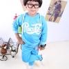 Huanshu kids ชุดเซ็ทเด็ก เสื้อแขนยาวมีฮูด + กางเกงขายาว สไตล์เกาหลี