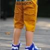 กางเกงสามส่วนเด็ก สีเหลือง Burker Rock เก๋ๆเทห์ๆ สไตล์ เกาหลี