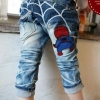 hunazhu kids กางเกงยีนส์เด็กเทห์ๆ สไตล์เกาหลี