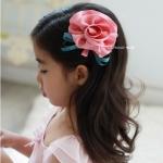 กิ๊บติดผมเด็ก ดอกคาร์เนชั่นสีชมพู