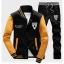 ชุดเสื้อแจ็คเก็ต-กางเกงขายาว : สีเหลือง - ดำ รุ่น KOMA ST0005 thumbnail 1