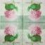 แนวภาพดอกไม้ เป็นช่อดอกไฮเดนเยียสีชมพู บนพื้นแนววินเทจ เป็นภาพ 4 บล๊อค กระดาษแนพกิ้นสำหรับทำงาน เดคูพาจ Decoupage Paper Napkins ขนาด 33X33cm thumbnail 2