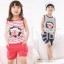 ชุดเซตเด็กหญิง 2 ชิ้น เสื้อ+กางเกง ผ้าเนื้อดีน่ารักสไตล์เกาหลี thumbnail 4