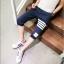 กางเกงขาสั้น3ส่วน JOGGER NAVY/WHITE STRIPED thumbnail 6