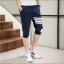 กางเกงขาสั้น3ส่วน JOGGER NAVY/WHITE STRIPED thumbnail 2