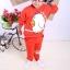 Huanshu kids ชุดเซ็ทเด็ก เสื้อแขนยาวคอกลม + กางเกงขายาว สไตล์เกาหลี (110,120) thumbnail 3