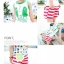 เสื้อกล้ามเด็ก สีขาวขอบเขียว สดใส ด้านหลังรูปดาวหลากสี สไตล์เกาหลี น่ารักสุดๆ thumbnail 3
