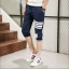 กางเกงขาสั้น3ส่วน JOGGER NAVY/WHITE STRIPED thumbnail 3