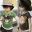 cisi เสื้อยืดเด็กคอกลม สีน้ำตาล ด้านหน้าสกรีนรูปหมีน่ารัก ใส่สบาย ไม่ร้อน น่ารัก สไตล์เกาหลี thumbnail 1