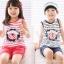 ชุดเซตเด็กหญิง 2 ชิ้น เสื้อ+กางเกง ผ้าเนื้อดีน่ารักสไตล์เกาหลี thumbnail 3