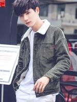 เสื้อแจ็คเก็ตแขนยาวเกาหลี แต่งซับขนนุ่ม มี4สี
