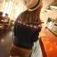 Pre Order เสื้อถักกันหนาวผู้หญิง Hitz แขนยาว ถักลาย สไตล์เกาหลี thumbnail 3