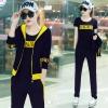 Pre Order ชุดวอร์มแฟชั่นเกาหลี เซ็ท 3 ชิ้น เสื้อแจ็คเก็ตแขนยาว+เสื้อยืด+กางเกงขายาว มี5สี
