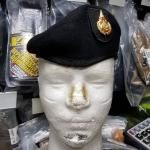 หมวกใบเล่ย์ดำ จัดทรง ตั้ง (ราคานี้ ไม่รวมหน้าหมวก)