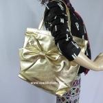 สินค้าพร้อมส่ง » กระเป๋า Kate Spade UVRU0024 Gold Tote On Purpose Gold/ Bright Pink สีทอง