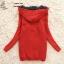 ++สินค้าพร้อมส่งค่ะ++เสื้อ coat เกาหลี สไตล์ cardigan ตัวยาว แขนยาว มี hood ซับในด้วยขนนิ่มอุ่นมากๆ ค่ะ ทอรูปกระต่ายด้านหน้า เก๋ – สีKhaki thumbnail 5