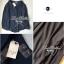 Lady Ribbon เสื้อเชิ้ตสไตล์สาวเกาหลีปกข้าง สีขาว-สีดำ thumbnail 10