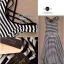 Lady Ribbon Striped Maxi Dress เดรสยาวแขนกุด ลายทางทรงบอดี้คอน thumbnail 13