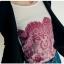 เสื้อแขนยาว ผ้า Cotton ผสม Spandex เนื้อนิ่ม พิมพ์ลายกราฟฟิก สีแดง thumbnail 3
