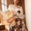 Seoul Secret ชุดเซ็ทเสื้อผ้าลูกไม้ กระโปรงผ้าแก้วทอลายดอก thumbnail 4