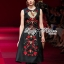 Lady Ribbon D&G Red Florals Embroidered Black Dress thumbnail 2