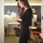Little Black Dress by Cherry KOKO เดรส ผ้าเนื้อผสมลายตาราง แต่งกระดุมเก๋ๆ thumbnail 6