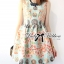 Lady Ribbon Vintage Floral Print Jacquard Mini Dress thumbnail 1