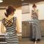 Lady Ribbon Striped Maxi Dress เดรสยาวแขนกุด ลายทางทรงบอดี้คอน thumbnail 9