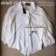 Lady Ribbon เสื้อเชิ้ตสไตล์สาวเกาหลีปกข้าง สีขาว-สีดำ thumbnail 8
