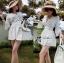 Lady Ribbon Classy Smocked Lace Dress thumbnail 7
